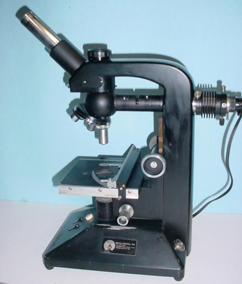 Microscope w vickers image shearing micro measuring eyepiece 10 x